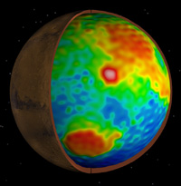 image of Mars showing the exterior with a 