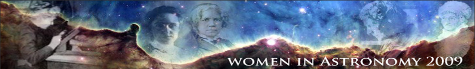 Banner for Women in Astronomy 2009